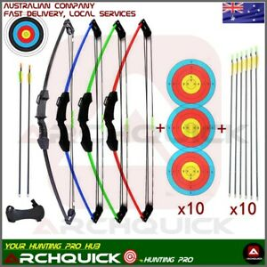 New Youth Archery Compound bow Set Junior Kids 12 lb Pack Right /Left Hand