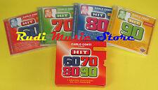 CD CARLO CONTI BOX 4 CD SIGILLATI compilation PROMO 2002 HIT 60 70 80 90 (C8)