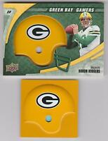 2008 UPPER DECK RELIC SET / LOT 24 AARON RODGERS JORDY ROOKIE GREEN BAY PACKERS