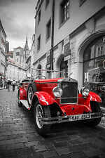 SUPERB RETRO VINTAGE CLASSIC CAR CANVAS #555 QUALITY CANVAS PICTURE A1 WALL ART