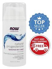NOW Foods Natural Progesterone Cream Liposomal Skin Cream, 3 oz
