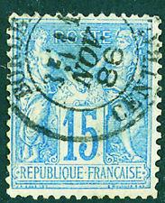 Timbre de France classique Sage n°90 Oblitération CAD Bordeaux Central