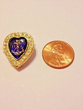 U. S.A. Military Navy Sweetheart Pin w/ 22  stones/ blue glass center * Vintage