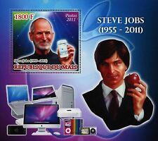 Steve Jobs Apple Famous People Souvenir Sheet Mint NH