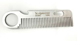 Scalpmaster Stainless Steel Beard Comb Stainless Steel Utility Bear Comb 1 Pc.