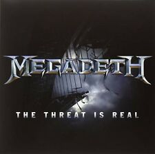 """Megadeth Threat Is Real 12"""" Vinyl European Universal 2015 Two Tracks From"""
