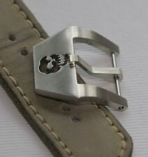 20mm Uhren-Schließe Buckle Totenkopf Skull Neu perfekt für Vintage Straps