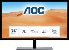 """AOC 32"""" QHD 2560x1440 2k Monitor 10-Bit IPS Panel 4ms 75Hz DisplayPort HDMI DVI"""