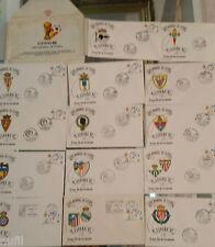 Colección 14 sobres Ciudades Sedes Mundial de Futbol ESPAÑA 82