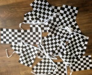 Chequered Flag F1 Grand Prix Fabric Bunting various lengths wholesale 1st Class