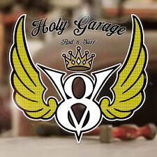 V8 Holy Garage Sticker Aufkleber Autocollante Hemi Flathead Big Block 125mm