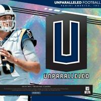 2019 Panini Unparalleled NFL Football INSERT Trading Cards Pick From List