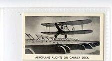 (Jb9773-100)  GERARD,MODERN ARMAMENTS,AEROPLANE ALIGHTS ON CARRIER DECK,1938#11