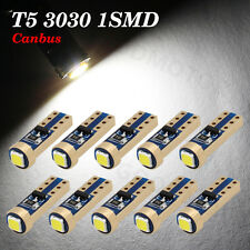 10X T5 Canbus Error Free 37 70 73 74 W5W LED 1 SMD White Side Wedge Light Bulb