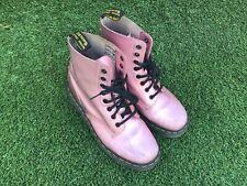 Dr Martens Womens  Pink Combat Lace Up Boots Sz8