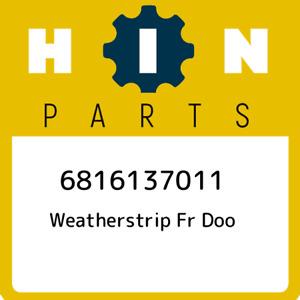 6816137011 Hino Weatherstrip fr doo 6816137011, New Genuine OEM Part
