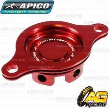 Apico Red Oil Filter Cover Cap For Honda CRF 450R 2009-2016 Motocross Enduro