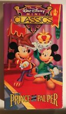 Walt Disney Mini Classics THE PRINCE AND THE PAUPER Vhs Video Tape Mickey Mouse