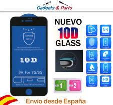 """Protector Pantalla iPhone 7 Tamaño 4.7"""" Negro 10D Premium AAA+++ Cristal"""