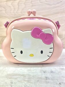 Hello Kitty KT2027 Pocketbook AM/FM Stereo CD Player Pink Purse Boombox 2003