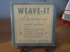 Donar Vintage Weave-It Hand Loom W/ Original Box and Instructions 1930