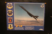 Vintage poster print AIL Systems Inc. B-1B in flight