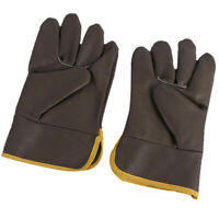 Welding Gloves Hands Cover Working Gloves for Welder/Fireplace/BBQ, Brown