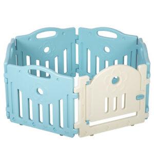 Baby Playpen 6 Panel Playard Kids PlaySafe Activity Center W/ Locked Door 477