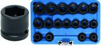 DOUILLES CHOC 6 PANS 1/2 DE 8 A 24 MM - COFFRET DE 17 DOUILLES