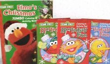 NEW elmo TOY LOT CHRISTMAS TOYS books PLAYSET basket supplies learning gift set