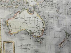 Australia New Zealand New Holland South Pacific Islands 1837 Duvotenay map