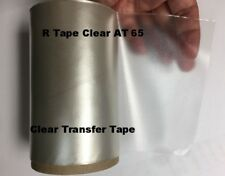 """1 Roll 12"""" x 50 Feet  Application Transfer Tape Vinyl Signs R TAPE  Clear at 65"""
