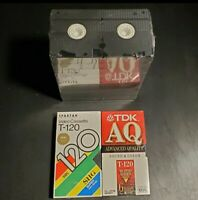 NEW SEALED LOT CASE OF 12 BLANK T-120 VHS TAPES VCR FUJI (10) Spartan TDK (2)