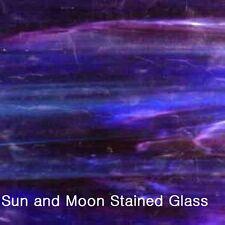 WISSMACH Stained Glass Sheet 703WO - Blue w/ streaks of Purple & White Opal
