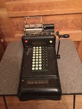 Antique Industrial Burroughs Hand Crank Adding Machine Steampunk