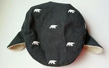 Boys Gymboree Polar Bear Lodge Hat Winter 12-24 Months Grey