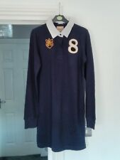 Replay Navy Longline Ladies Rugby Shirt Size M