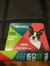 """New listing Vibrant Life Durable & Water Resistant Crate Mat, Black, 24"""""""