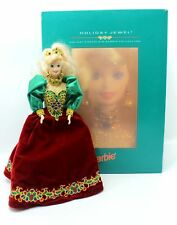 Barbie Holiday Jewel Christmas Porcelain Doll 1995