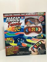 Ontel Magic Tracks RC Remote Control Turbo Race Cars, Bendable Glow in the Dark