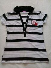 Polo magliettta mezze maniche t-shirt bianca e nera S/M NUOVA