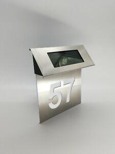 Hausnummer ,LED Beleuchtete Solar Hausnummer