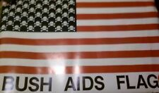 ACTUP George BUSH AIDS CROSSBONES & STRIPS FLAG POSTER