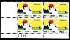 ALLY'S STAMPS US Plate Block Scott #1381 6c Professional Baseball [4] MNH OG