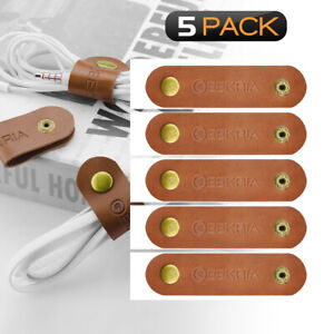 Geekria Power Cord Organizer Earphone Winder Cable Straps, Charging Cable Ties