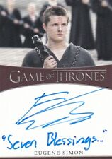 Game of Thrones Season 8 INSCRIPTION Autograph Card signed by Eugene Simon