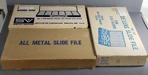 Vintage 35mm Slide Metal File Box Cases Holders Set of 3 Great for Coins Too!!