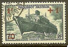 "FRANCE TIMBRE STAMP N° 502 "" PAQUEBOT PASTEUR "" OBLITERE TB"