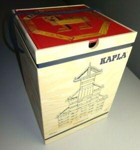 KAPLA 280 --- Holzkiste mit Buch 280 Stück Pinienholzplättchen -- Baukasten NEU