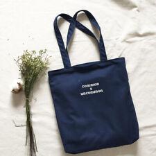 100% Cotton Casual Black Zipper School shoulder 12ounce Canvas Tote Bag handbags